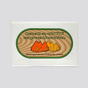 Forest Fire Rectangle Magnet