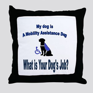 mobility assistance dog boy Throw Pillow