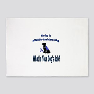 mobility assistance dog boy 5'x7'Area Rug