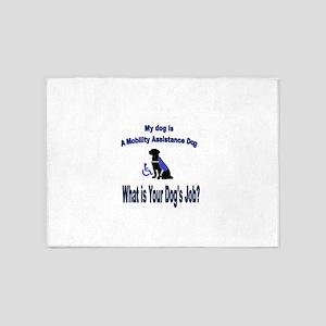 mobility assistance dog boy 5'x7'Area Rug