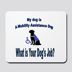 mobility assistance dog boy Mousepad