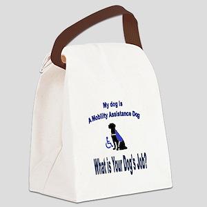 mobility assistance dog boy Canvas Lunch Bag
