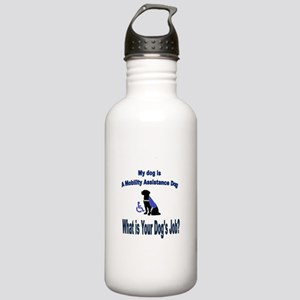 mobility assistance dog boy Water Bottle