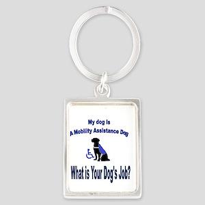 mobility assistance dog boy Keychains