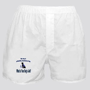 mobility assistance dog boy Boxer Shorts