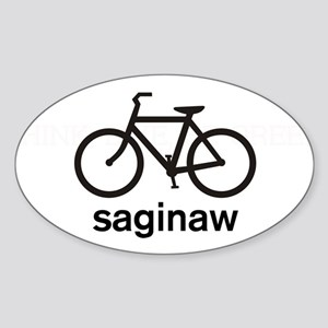 Bike Saginaw Oval Sticker