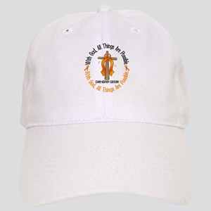 With God Cross Kidney Cancer Cap