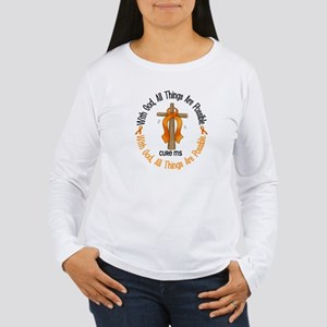 With God Cross MS Women's Long Sleeve T-Shirt
