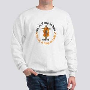With God Cross MS Sweatshirt