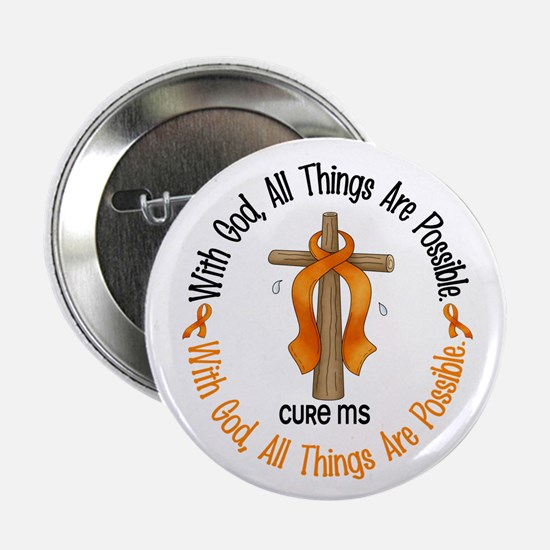 """With God Cross MS 2.25"""" Button (10 pack)"""