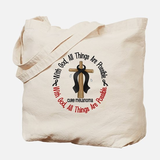 With God Cross Melanoma Tote Bag