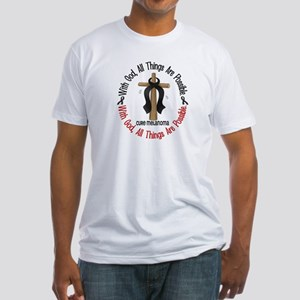 With God Cross Melanoma Fitted T-Shirt