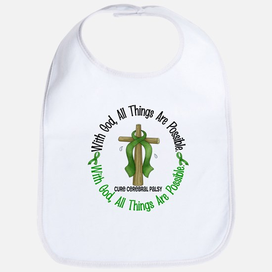 With God Cross Cerebral Palsy Bib