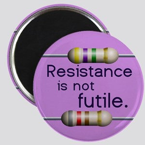 "Happy Pink ""Resistance is Not Futile"" Magnet"