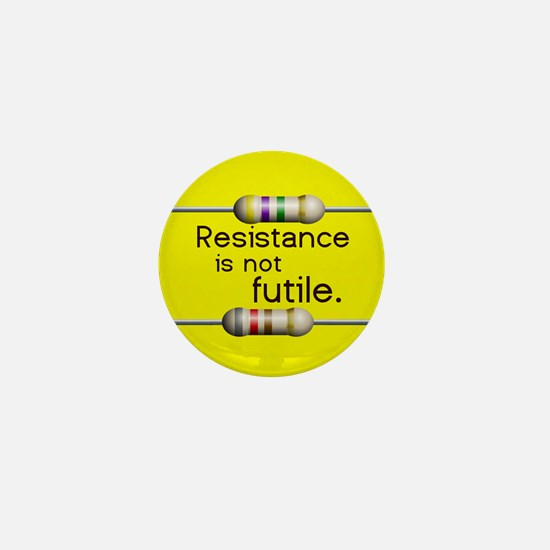 """Bright Yellow """"Resistance is not Futile"""" Mini Butt"""