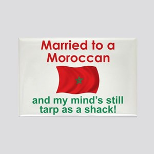 Married to a Moroccan Rectangle Magnet