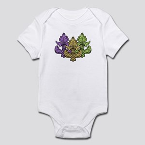 3 Mardi Gras Fleur de lis Infant Bodysuit