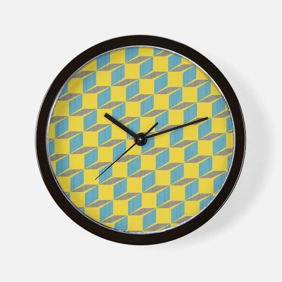 Retro Bloxy Boxes Wall Clock