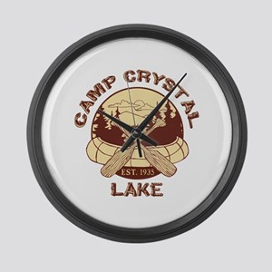 Camp Crystal Lake Large Wall Clock