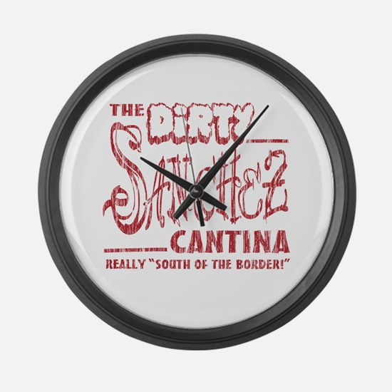 The Dirty Sanchez (Red Print) Large Wall Clock