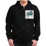 Cool Like Old School Zip Hoodie (dark)