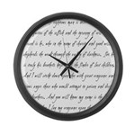 Ezekial 25:17 Large Wall Clock