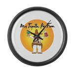 Mas Tequilla, Por Favor Large Wall Clock