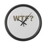 What The Fuck? Large Wall Clock
