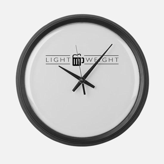LIGHTWEIGHT (light) Large Wall Clock