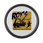 Roy's Pole Removal Large Wall Clock