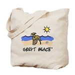 Greyt Beach Tote Bag