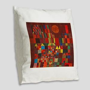Paul Klee art: Castle and Sun, Burlap Throw Pillow