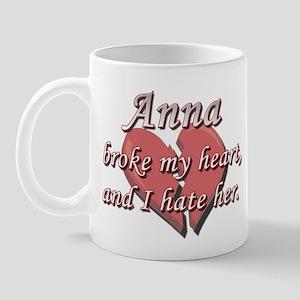 Anna broke my heart and I hate her Mug