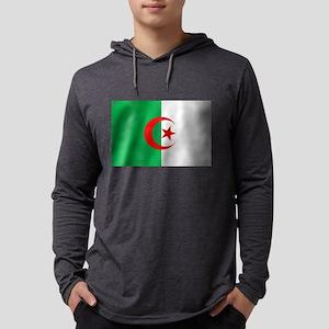 Flag of Algeria Mens Hooded Shirt