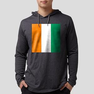 Ivory Coast Flag Mens Hooded Shirt