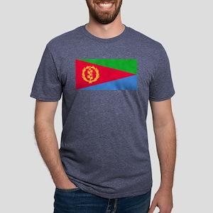 Flag of Eritrea Mens Tri-blend T-Shirt