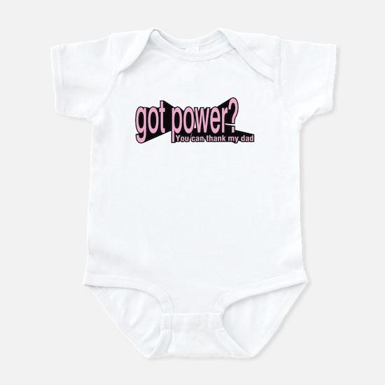Got Power? for girls Infant Bodysuit