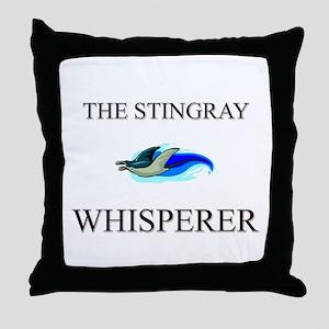 The Stingray Whisperer Throw Pillow