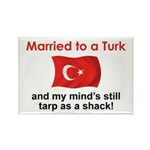 Married to a Turk Rectangle Magnet
