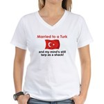 Married to a Turk Women's V-Neck T-Shirt