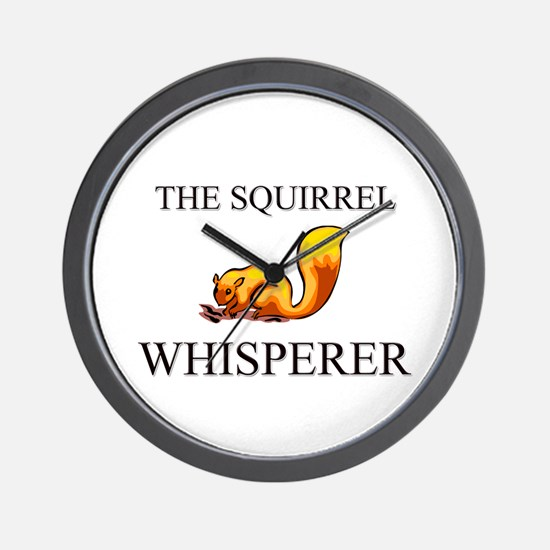 The Squirrel Whisperer Wall Clock