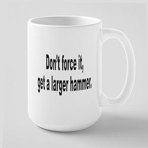 Larger Hammer Humor Large Mug