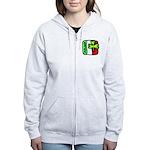 Irish Flag of Ireland Women's Zip Hoodie