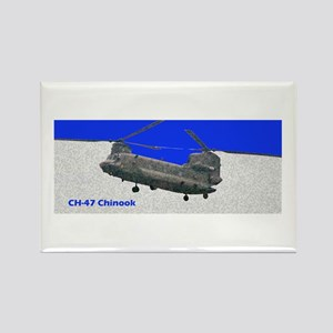 Chinook Helicopter Rectangle Magnet