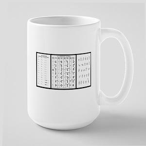 Large Mug w/ Morse Semaphore and ASL