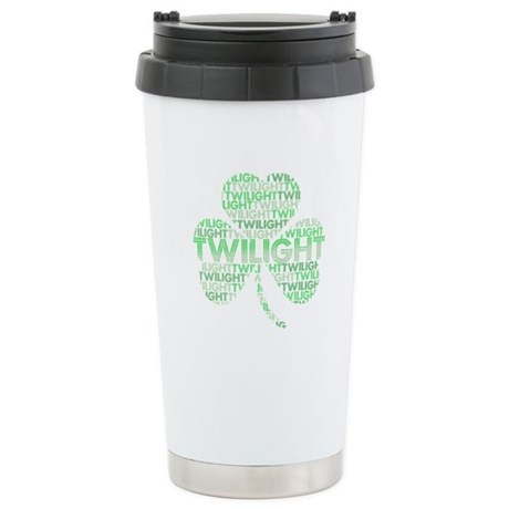 Twilight Shamrock Stainless Steel Travel Mug
