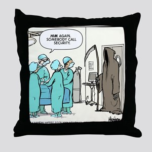 Death in the OR Throw Pillow