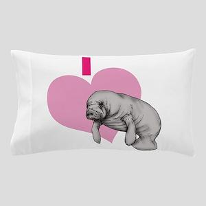I love Manatees Pillow Case