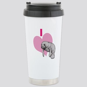 I love Manatees Travel Mug