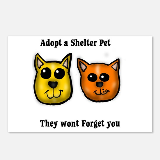 Shelter Pets Postcards (Package of 8)